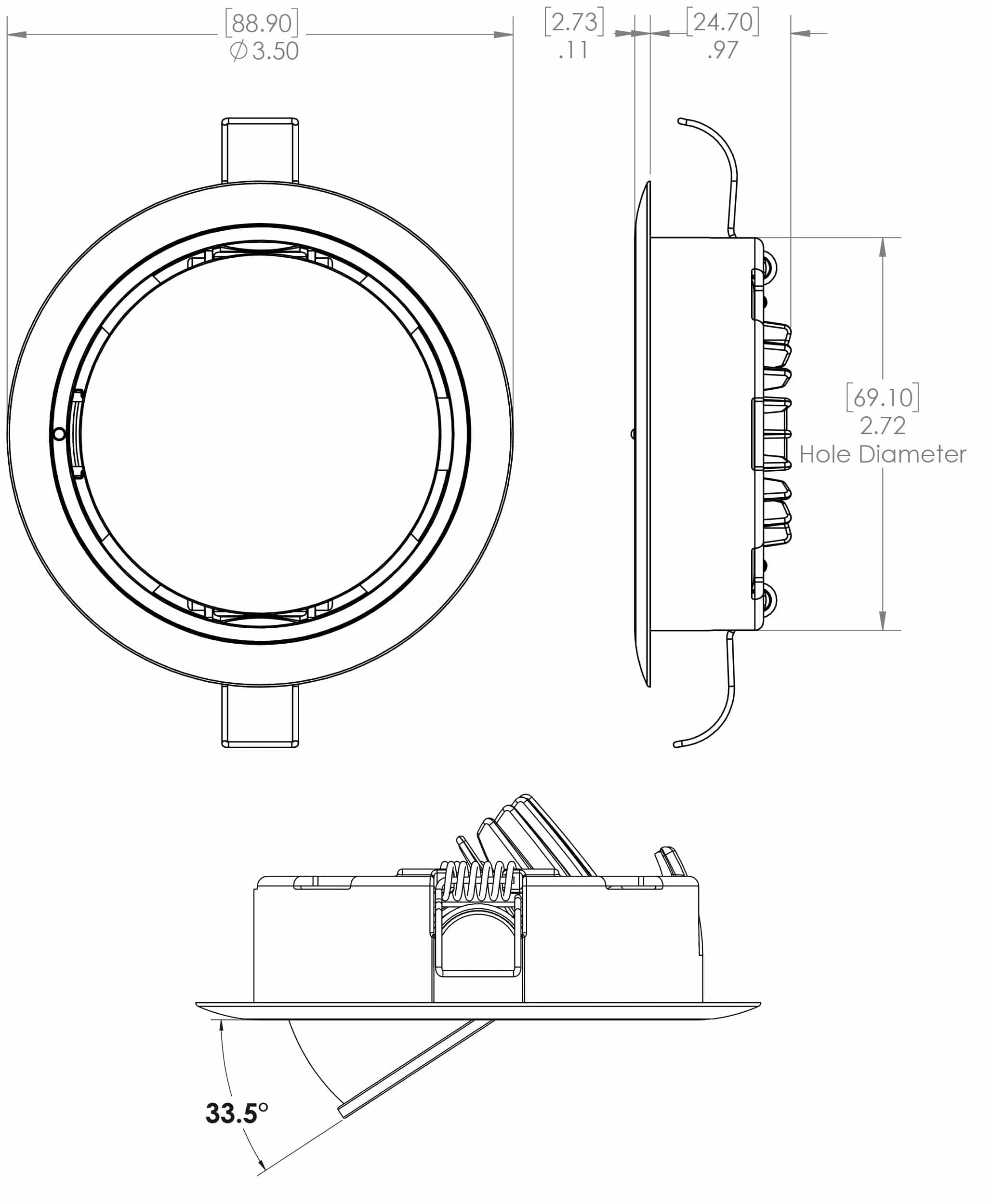 Light Fittings Surface Mount And Recessed Leds Unlimited Fitting Wiring Diagram Nz Positionable Mirage Dimensions