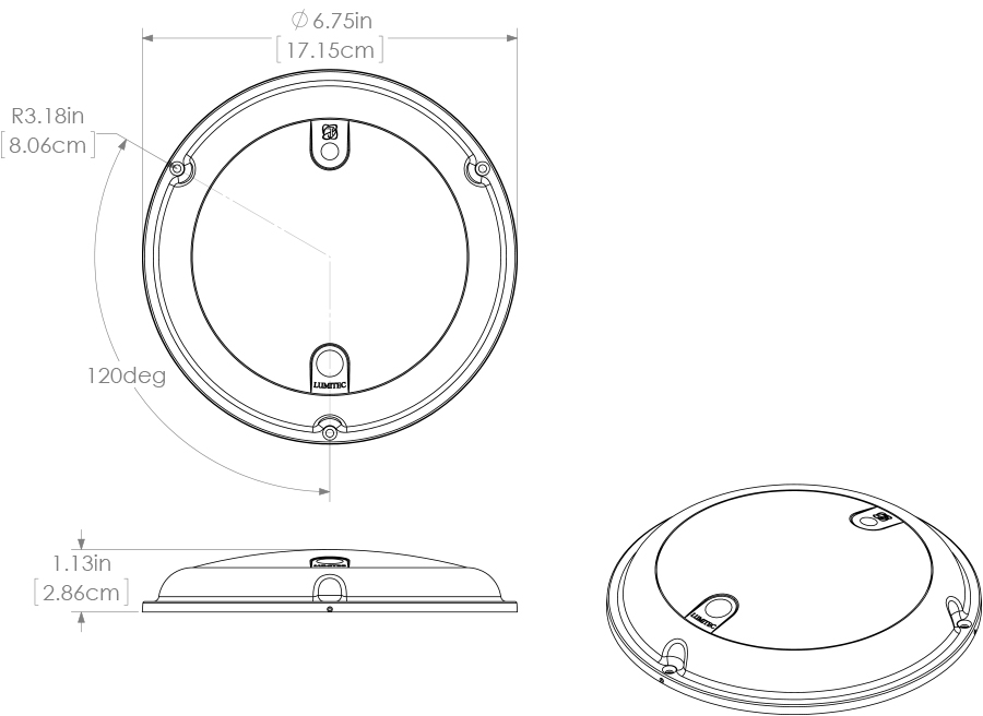 lumitec touch dome - stainless bezel