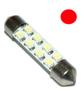 Festoon 8 Led 39mm Red Tail Leds Unlimited